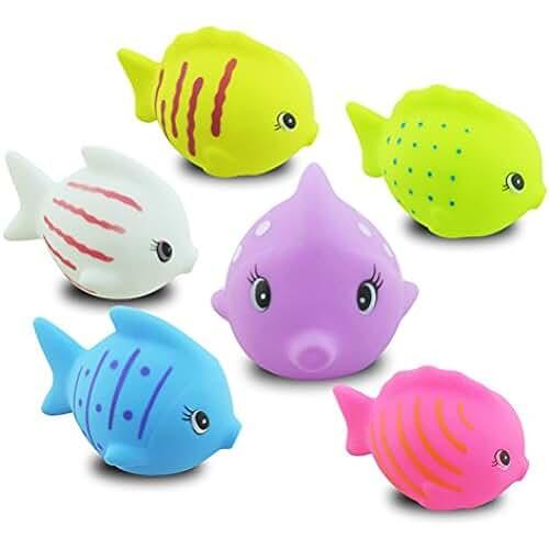juguetes kawaii TOYMYTOY 6 peces lindos de la diversión que flotan los juguetes del baño para el tiempo infantil del bebé