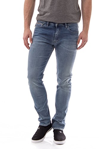 CALVIN KLEIN JEANS - Jeans da uomo slim straight straight j30j304716 Blue