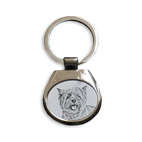 ArtDog Ltd. Cairn Terrier, Schlüsselringe mit reinrassigen Hunden, einzigartiges Geschenk, Sublimation -
