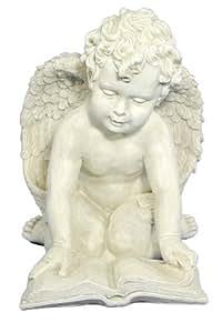 Casa Collection 10335 Art for living by Jänig Statuette représentant un ange lisant un livre à genoux Hauteur 24 cm