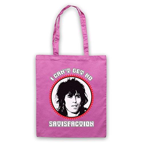 Inspiriert durch Rolling Stones Keith Richards Satisfaction Inoffiziell Umhangetaschen Rosa