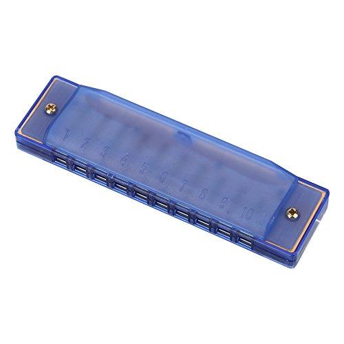 Harmonica Coloré 10 Trous en Plastique Jouet Instruments Musique Jouet d'Eveil Musique à Bouche pour Enfants ( Color : Bleu )