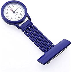 FACILLA® Dark Blue Quartz Movement Nurse Brooch Fob Tunic Pocket Metal Watch [Watch]