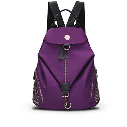 mujeres-nylon-gran-capacidad-sencillo-salvaje-casual-mochila-color-slido-ajustable-bolso-impermeable