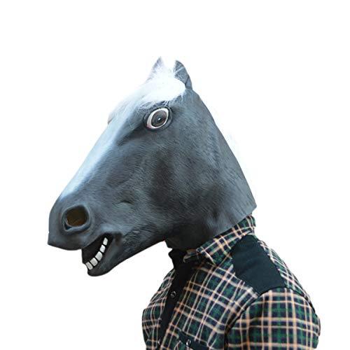 SSYYY Halloween Lustige Maske, Rave Party Lustige Animal Kopfmaske Für Party Halloween Karneval Karneval Kostüm Rollenspiel Dekoration Horror Lustige Tanzkleid Cosplay Requisiten,D (Kostüm D'animaux)