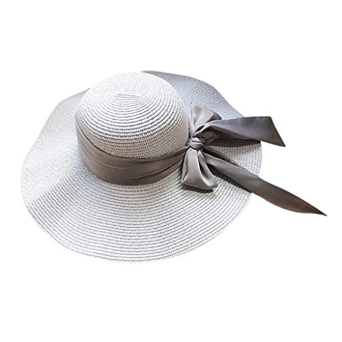 003615e7452a6 PRINCER Unisex Fedora Hat Trilby Straw Hats Summer Panama Beach Sun Cap Summer  Sun Hat Floppy