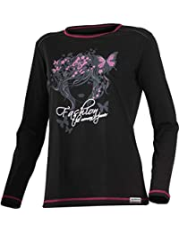 57c72a09629bd Amazon.es  camiseta lana merino mujer - Ropa deportiva   Mujer  Ropa