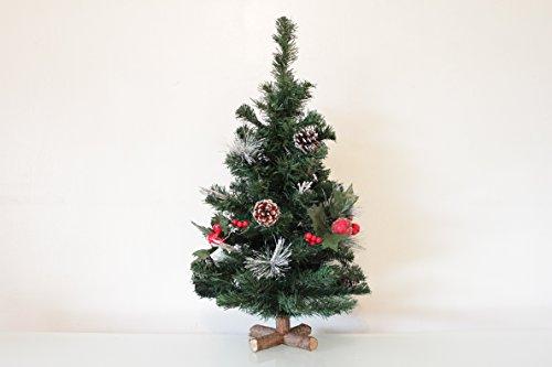 Albero di Natale da tavolo, vari motivi, 60-65 cm, verde,