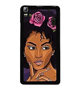 Girl with Flower Headgear 2D Hard Polycarbonate Designer Back Case Cover for Lenovo A7000 :: Lenovo A7000 Plus :: Lenovo K3 Note