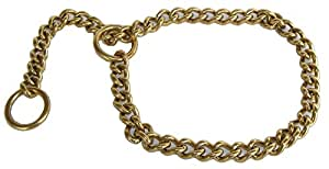 Brass Choke Chains for Dogs Medium