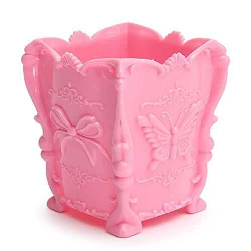 TOOGOO(R) Boite De Maquillage Maquillage Stockage Cosmetique Organisateur forme de papillon Multi-Cosmetiques pink
