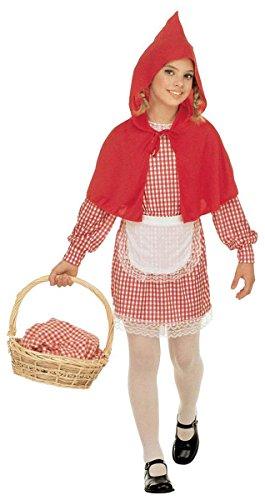 Widman - Disfraz de Caperucita Roja para niña, talla M (8 - 10 años) (38547)