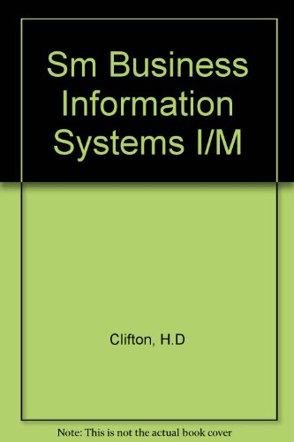 Systems Information I Business (Sm Business Information Systems I/M)