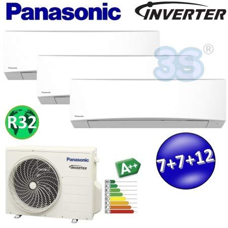 Climatizzatore trial split inverter R32 PANASONIC serie TZ 7000+7000+12000