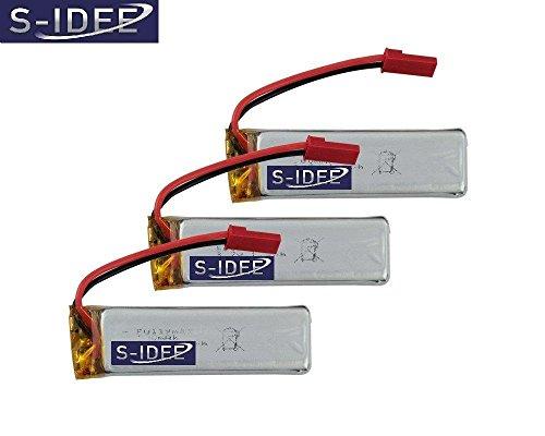 s-idee® 01165 | 3 Akkus für Quadrocopter U818 U818A U817 V959 V969 V222