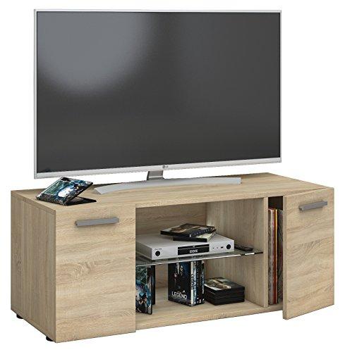 fernseh moebel VCM TV Lowboard Fernseh Schrank Möbel Tisch Holz Sideboard Medien Rack Bank Sonoma-eiche 40 x 95 x 36 cm