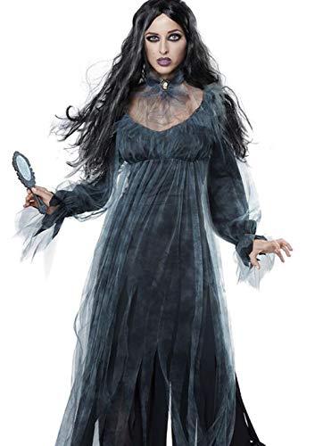 QIONGQIONG Halloween Lady Horror Braut Zombie Spitzenkleid Kostüm Spiel Kleid Bühne Dämon Kostüm - Dämon Braut Kostüm