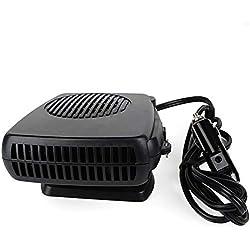 AWAKMER Pare-Brise Voiture Dégivreur de Voiture Portable Désembuage 12V Ventilateur de Refroidissement de véhicule 150W Allume-Cigare