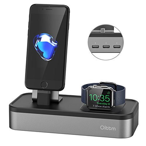 apple watch ladestation oittm 5 usb ports charge. Black Bedroom Furniture Sets. Home Design Ideas