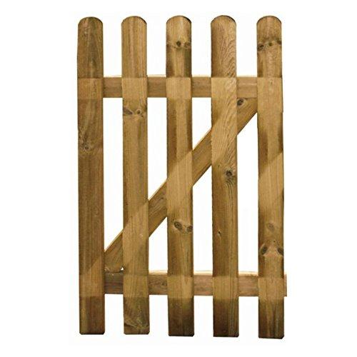 Evergreen Cancelletto cancello in legno trattato 100x80cm esterno EG52953