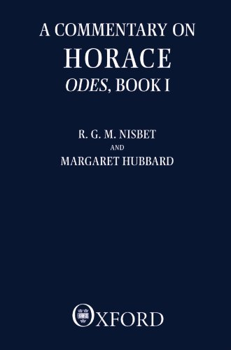 A Commentary on Horace: Odes, Book I (Bk.1)