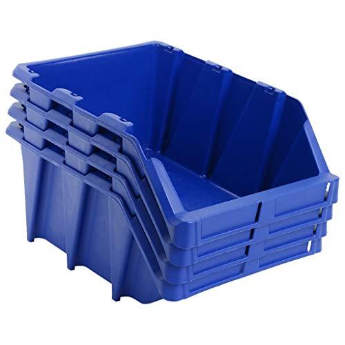 ghuanton Stapelbare Lagerboxen 15 STK. 310 x 490 x 195 mm Blau Heimwerkerbedarf Bauzubehör...