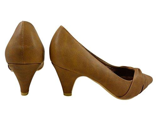 Chaussures pour femme pointues à talons Camel