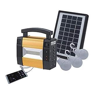 Lorenlli Groupe électrogène portatif de Groupe électrogène de Stockage de Panneaux solaires pour la Maison en Plein air pour Les Ampoules à LED