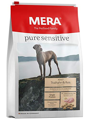 MERA pure sensitive Adult Truthahn und Reis Hundefutter - Trockenfutter für die tägliche Ernährung nahrungssensibler Hunde -