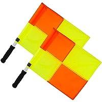 OPTIMUM - Bandierine da guardalinee, per Allenamento, Colore: Arancio/Giallo