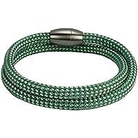Armband aus Segeltau Serie 6 grün/weiß handgefertigt by dünenkinder
