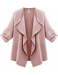 Reaso Femmes Loose Cardigan Veste Revers Lâche Blazer Manche Longue Trench Coat Chic Veste Manteaux Automne Hiver Casual Pull Outlet Asymétrique Blouson