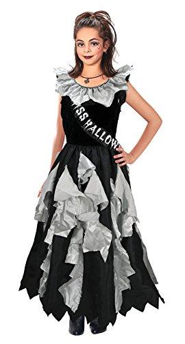 9Zombie Prom Queen Kostüm, grau, mittel, 122–134cm (Zombie Prom Queen)