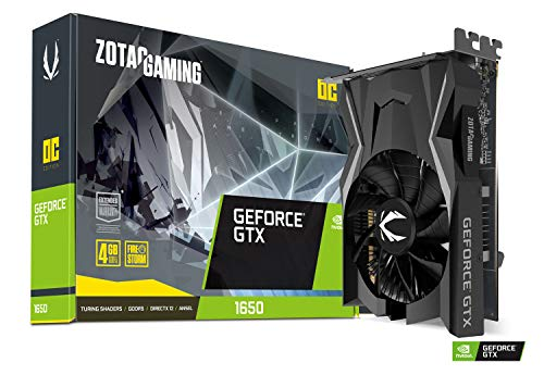 ZOTAC GeForce GTX 1650 OC Edition 4GB GDDR5 128-bit Gaming Graphics Card (ZT-T16500F-10L)