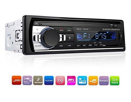 PolarLander Radio de voiture Audio USB / SD / Lecteur MP3 Récepteur Bluetooth mains libres avec télécommande Noir 1 D