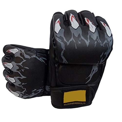 Wovemster Boxhandschuhe, Trainingshandschuhe für Sparring/Kickboxen/Boxsack/Kampf/Fausthandschuhe/Muay Thai/Sport & Outdoor Spiele für Männer Und Frauen(Black)
