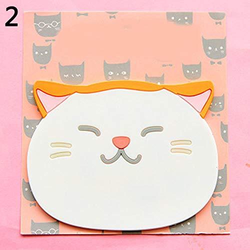 FORHOME Silikon Stile Esstisch Tee Tischdecke Untersetzer Nette Katze Silikon Muster Isolierung Tischdecke Untersetzer Tasse Kaffee Pad, 2