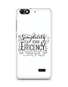 Amez Simplicity is the best form of Efficency Back Cover For Huawei Honor 4C