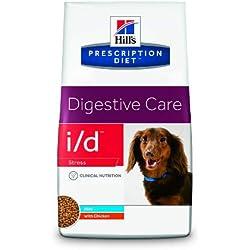 Hill's Prescription Diet Canine I/D Santé Digestive Stress Nourriture pour Chien Croquettes 5kg Poulet