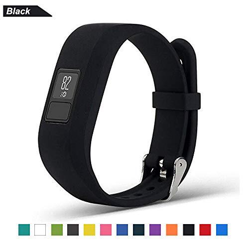 Bemodst Correa Strap para Reloj Garmin Vivofit 3, Pulsera de Silicona Brazalete de Reemplazo Banda de Repuesto para Hombre Mujer (Negro)