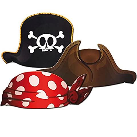 6x Pirate Hat for Children's Birthday Parties or Party/CONO/Party Pirate Pirates