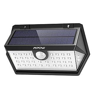 Mpow 40 LED Spot Solaire 3 Modes Intelligents Etanche IP65 Lampe Solaire Extérieur , Détecteur de Mouvement 270°Grand Angle, Luminaire Exterieur pour Allée, Escalier, Garage, Jardin, Mur, Maison