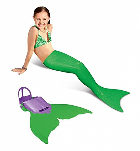 Xtrem Sports Aquatail Meerjungfrau Flosse, 6-12 Jahre (Grün, 1 Meerjungfrau Flosse)