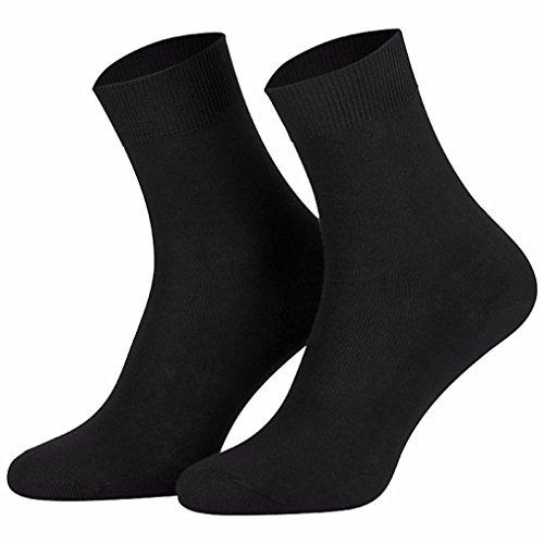 10 par negro para mujer-calcetines 100% de algodón negro 39