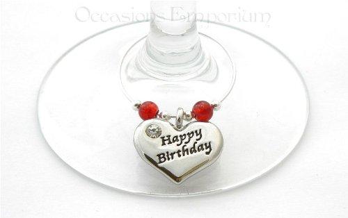 Happy Birthday Weinglasanhänger - Geburtstagsgeschenke