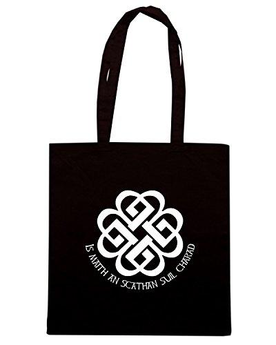 T-Shirtshock - Borsa Shopping T0112 NODO CELTICO religioni celtic Nero