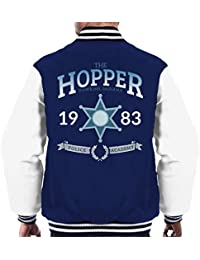Cloud City 7 Stranger Things Hopper Police Academy Men s Varsity Jacket be45ee66281