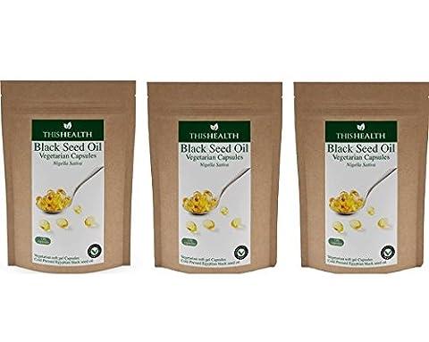 Black Seed Oil Capsules Refill Pack bulk buy 3 pack (3 x 120 x 500mg capsules)