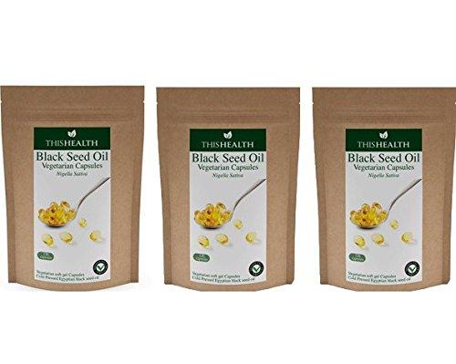 Aceite De Semilla Negro cápsulas pack De Recarga lote compra Paquete de 3 (3 x 120 x 500mg cápsulas)