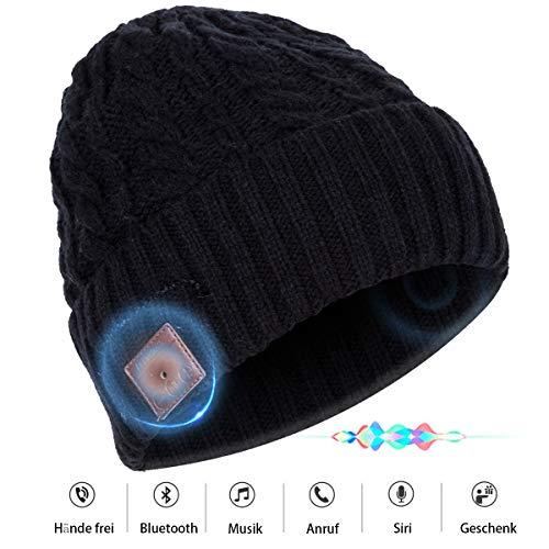 Bluetooth-Beanie Gestrickt Mütze mit Hände-Free Kopfhörer Singen für Sie einen Warmen Winter und Meine Freude Hören eignet Sich für Outdoors Aktivitäten Joggen Dog-Walking, Reiten, Ski-Snowboard -